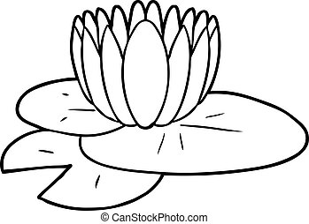cartoon water lily