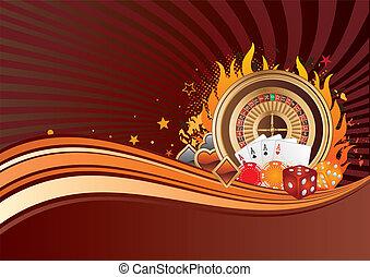 casino elements, gambling background
