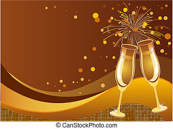 Shining New Year's Eve Celebration vector background