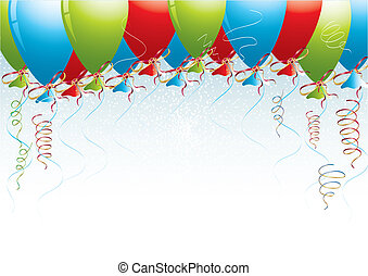 Celebration background with balloons, vector illustration