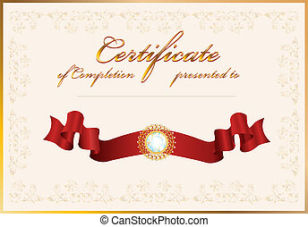 certificate of completion. Template.