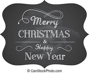 Elegant Christmas background with text - vector
