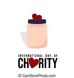 Charity Jar vector illustration.
