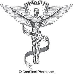 Illustration of a chiropractors symbol.