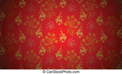 christmas background floral pattern