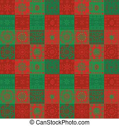 Christmas background with ethnic motifs