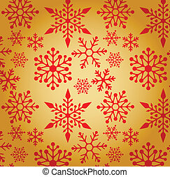 Christmas background with snowflakes pattern