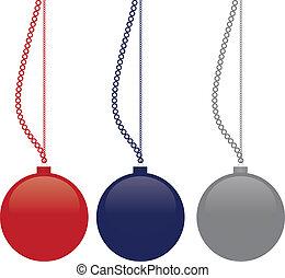 Christmas balls - vector image
