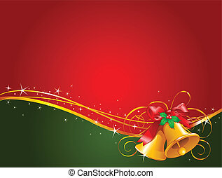 Christmas background with Christmas bells