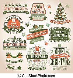 Christmas collection of design elements.