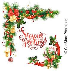 Christmas corner design