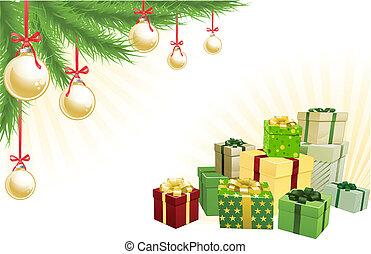 Christmas corner elements