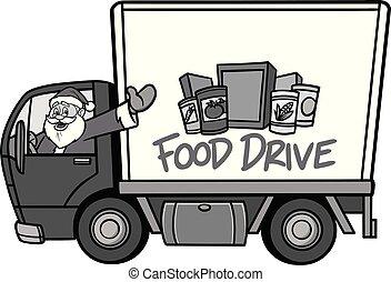 Christmas Food Drive Illustration
