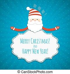 Christmas frame with Santa Claus