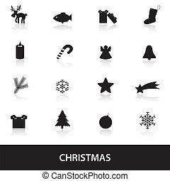 christmas icons eps10