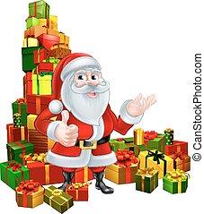 Christmas Santa and Gifts