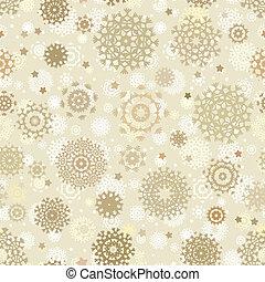 Christmas seamless card with snowflakes. EPS 8