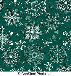 Christmas Seamless green-white Pattern