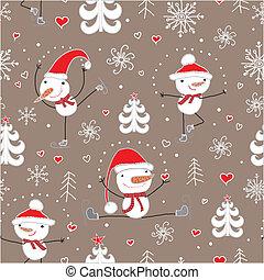 Christmas seamless pattern.