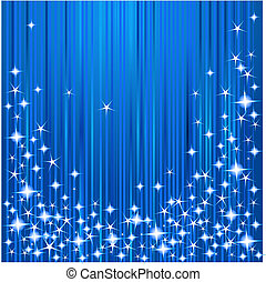 Blue Christmas background with stars and stripes