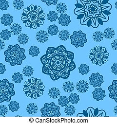 Christmas Tile. Ornate Snowflake In Christmas Festival Picture Vector Background