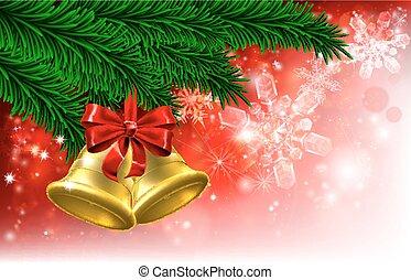 Christmas Tree Bells Background