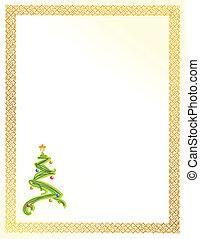 christmas tree card illustration