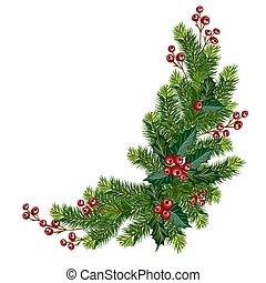 Christmas tree corner