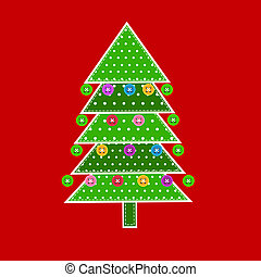 Christmas tree in patchwork style