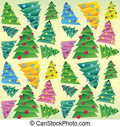 Christmas tree, seamless ornament