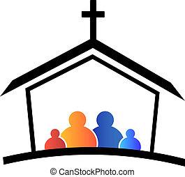 Church family faith logo
