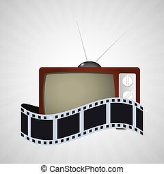 cinema tv vintage strip film