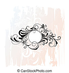 Circle Decorative Floral Ornament