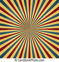Circus Colors Sunburst Background