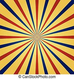 Circus themed sunburst