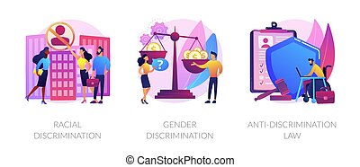 Civil rights violation abstract concept vector illustrations.