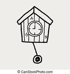 clock doodle