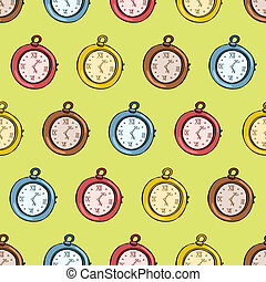 Clock seamless pattern