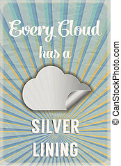 Cloud and silver lining poster