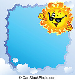 Cloudy frame with Sun 3
