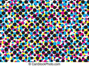 cmyk dot pattern, vector
