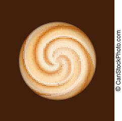 Coffee and milk cream texture