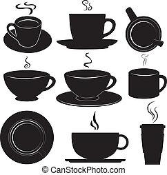 coffee cups set vector