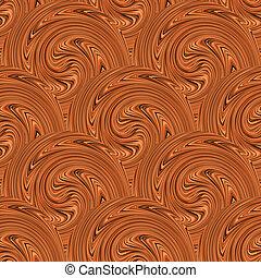 Coffee swirl seamless background. Vector