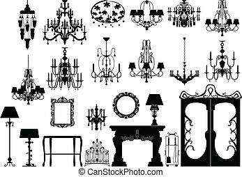 furniture and lighting silhouettes