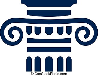 Law logo sign. Classic logo sign. Architecture element logo