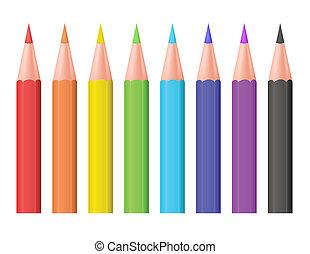 Color pencils. Vector illustration.