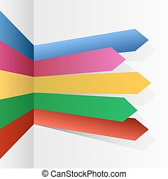 Color stripes arrows infographic vector template.