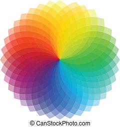 Color wheel background. Vector Illustration