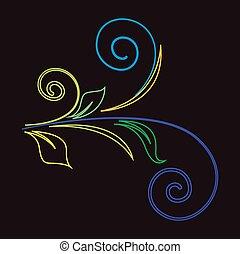 Colored Flourish Vector Elements